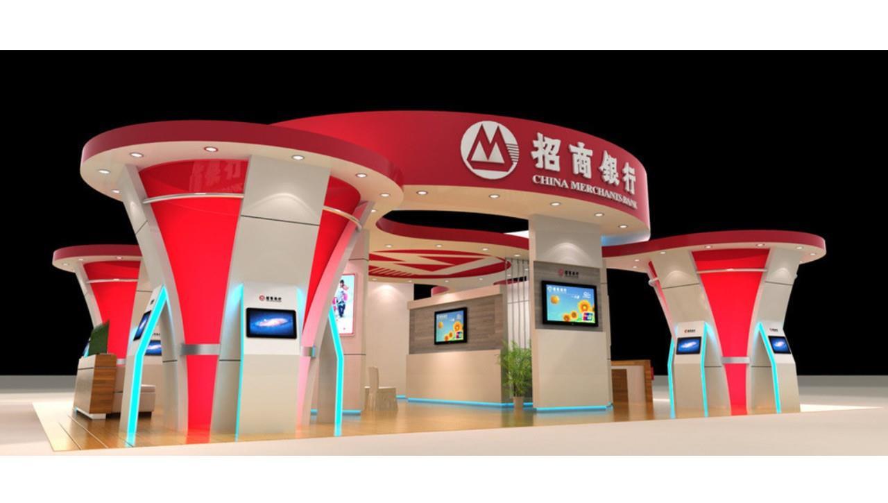 亚太国展--招商银行展台设计搭建