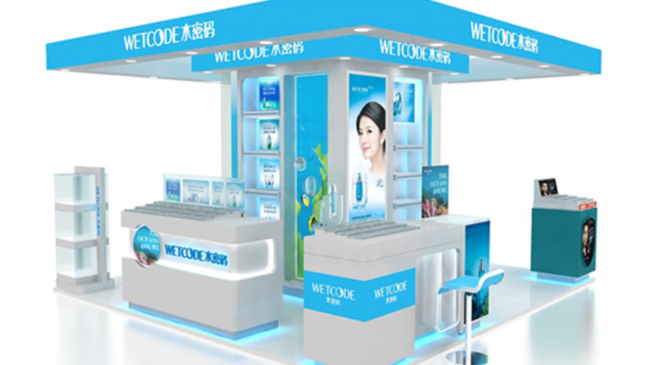 亚太国展--水密码商场专柜设计施工