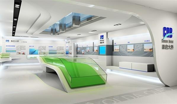 亚太国展--崇启路桥展厅设计施工