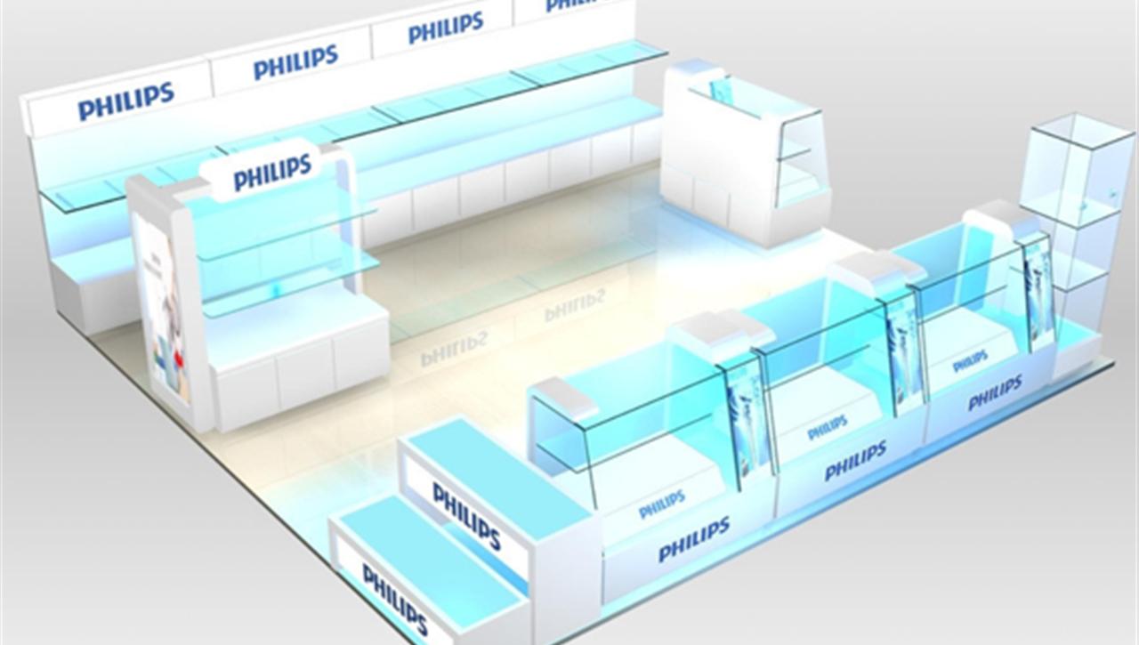 中外联合--飞利浦专柜设计施工